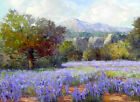Canvas Print Texas Bluebonnets Landscape Oil painting Printed on canvas L158