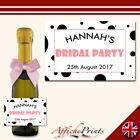 L27 Personalised Mini Individual Prosecco Bottle Hen Party Bridal Custom Label