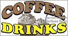 (Choose Your Size) Coffee Drinks DECAL Food Truck Vinyl Sign Sticker Concession