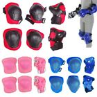 6 PCS Set Kids Protective Gear Wrist Elbow Knee Pads Blades Guard Skating Bike
