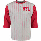 St. Louis Cardinals Red Double Play 3/4 Sleeve Raglan Henley