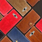 For Samsung Galaxy J7 (2016) Thin Classic Leather Wallet Case Cover +Wrist Strap