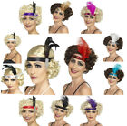 Ladies 20's Flapper Headband Assorted Colours