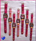 Kids PRINCESS DOLL WRIST WATCH with hands PINK Stainless Back NEW -Choose Design