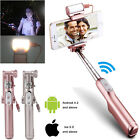 Bluetooth Selfie Stick with 360° LED Fill Light Mirror for iPhone Samsung LG New