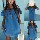 New Women Summer Beach Dress Casual Sleeveless Evening Party Short Mini Dress