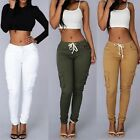 Women's Fashion Stretch High Waist Jogger Leggings Loose Casual Pants Trousers