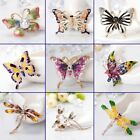 Charm Rhinestone Crystal Butterfly Dragonfly Brooch Pin Women Lady Girls Jewelry