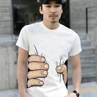 Summer Men Boy Cotton 3D Short Sleeve Big Hand Top T-Shirt S/M/L/XL/XXL