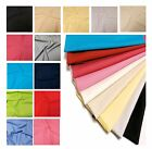 Plain Cotton Fabric Material For Sewing | Choice of Colours | Per 1/2m  FREE P&P