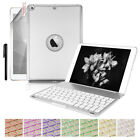 """7 Color Backlit Lights Bluetooth Keyboard Folio Case Cover For iPad 9.7"""" 2017"""