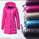 WINTER Womens Plus Size Ultralight 90% Down Slim Hooded Jacket Puffer Parka Coat