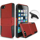 For Apple Ipod Touch 5 5g Apex Hybrid Gel Hard Perforated Case Cover Kickstand