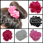 Beautiful Small Spanish Flamenco Flower Hair Clip Plain Red Pink Black White NEW