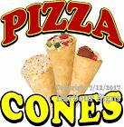 Pizza Cones DECAL (Choose Your Size) Cone Food Truck Concession