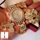 New Fully Iced Out Lab Diamonds Lion Head Hand Gun Techno Pave Dope Watch CW18 image