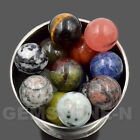 Natural Gemstones Harmony Round Ball Crystal Healing Sphere Rock Stones 25mm