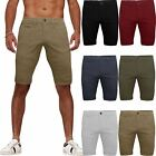 Mens Stretch Shorts Chino Spandex Combat Half Pant Branded Knee Length Bottoms