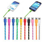 1/2/3M Woven Braided Fabric USB Data Line Sync Charger For Samsung HTC Huawei