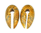 """Large Stone Keyhole Ear Weights (EW-702) For 5/8"""" and up plugs gauges"""