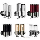 Double Wall Mount Shower Pump Shampoo and Soap Dispensers Stainless Steel #F8s