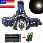 60000LM LED T6 LED Headlamp Focus Headlight Lamp Light 18650battery+Charger USA