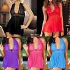 Women Sexy V-neck Lingerie Sleepwear Underwear Dress and G-string DZ8801 01