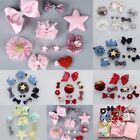 10PCS Kids Baby Girls Bowknot Hair Clips Lace Flower Pins Hair Jewelry Gift Set