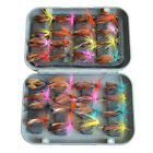 12/32/40 PCS Fly Fishing Lure Artificial Insect Bait Trout Hooks Tackle Baits