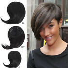 Short Neat Bangs Clip on Front Neat Bang Side Fringe clip in Hair Extensions