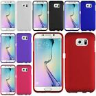 For Samsung Galaxy S6 Edge Rubberized Snap On Plastic Hard Ultra Slim Cover Case