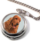 English Cocker Spaniel Full Hunter Pocket Watch (Optional Engraving)