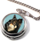 Finnish Lapphund Dog Full Hunter Pocket Watch (Optional Engraving)