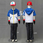 ANIME Pokemon Ash Ketchum Trainer Kids Cosplay Costume T Shirt Pants Gloves Hat