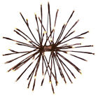 Lighted Hanging Twig Starburst With Remote, by Collections Etc