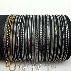 "10 Style Fashion Jewelry 925 Plated Silver 1-2mm Chains Necklaces Gift 16""-30"""