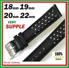 GRAND PRIX RACING LEATHER WATCH STRAP. COMPATIBLE HEUER 1964 CARRERA RE-EDITION