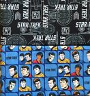 STAR TREK :100% LICENSED cotton fabric by 1/2  metre CHOOSE DESIGN