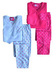 Girls PJs New Kids Fleece V Neck Long Sleeved Winter Nightwear Ages 7 - 13 Years