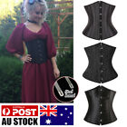 Gohtic Steampunk Women Waist Training Corset Boned Underbust Body Shaper Cincher
