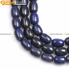 Column Natural Blue Lapis Lazuli Stone Buddha Loose Beads Jewelry Making 15''