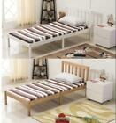 FoxHunter Wooden Bed Frame Solid Pine Bedroom Furniture Home Single White Nature