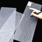 1X Plastic Quilting Stencil Painting DIY Craft Stencil Template Stitch Sew Clear
