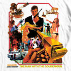 James Bond The Man Golden Gun T shirt 1970's movie retro 007 cotton graphic tee $22.99 USD