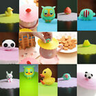 Animal Silicone Leakproof Coffee Mug Suction Lid Cap Airtight Sealed Cup Cover