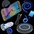QI Wireless Car Charger LED Cable Case for Samsung Galaxy S7 Edge S8 Plus Note 8