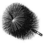 "Round Heavy-Duty 22 Gauge Steel Chimney Brush 3/8"" Thread"