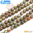"""8mm Round Green Sparrow Agate Gemstone Jewelry Making Stone Loose Beads 15"""""""