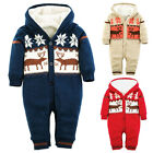 Baby Infants Winter Warm Thick Climbing Jumpsuit Knitted Xmas Hooded Sweater Hot