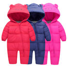 Baby Infants Fashion Winter Warm Long Sleeve Hooded Outerwear Jacket Jumpsuits